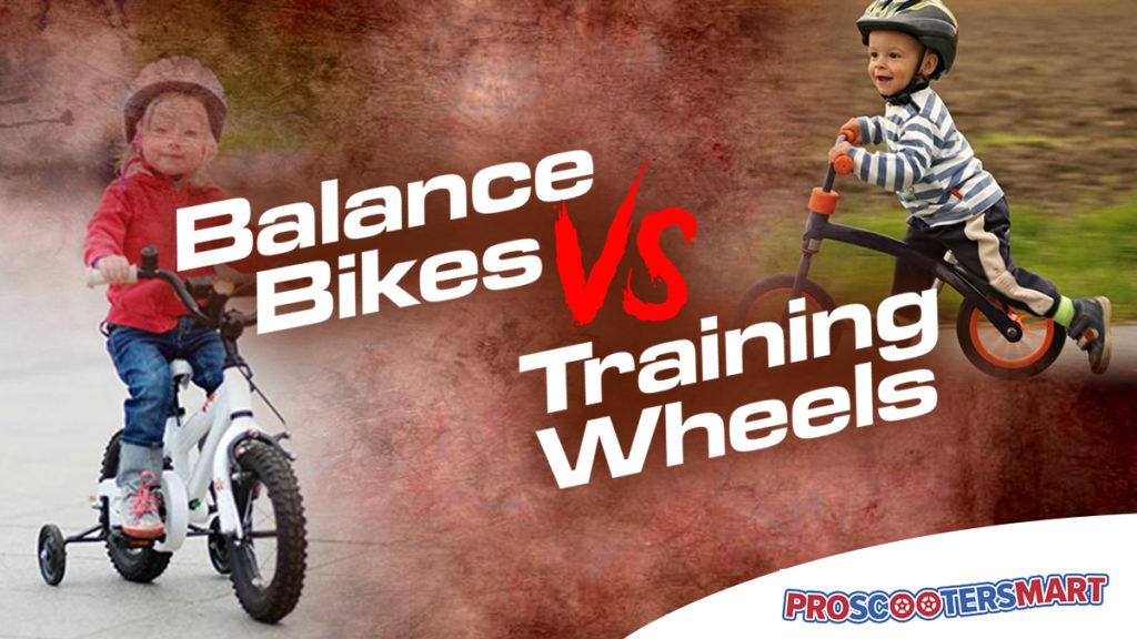 balance bikes vs training wheels