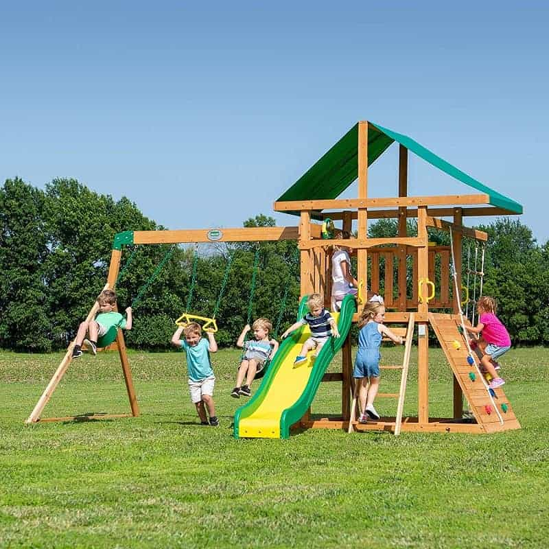 Backyard Discovery Mount McKinley Cedar Wood Swing Set