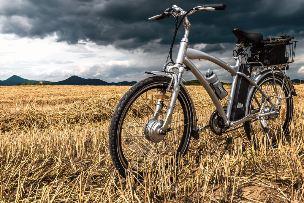 electric bike in field