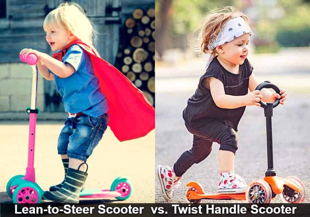 Lean-to-Steer vs. Twist Handle Scooter for Kids