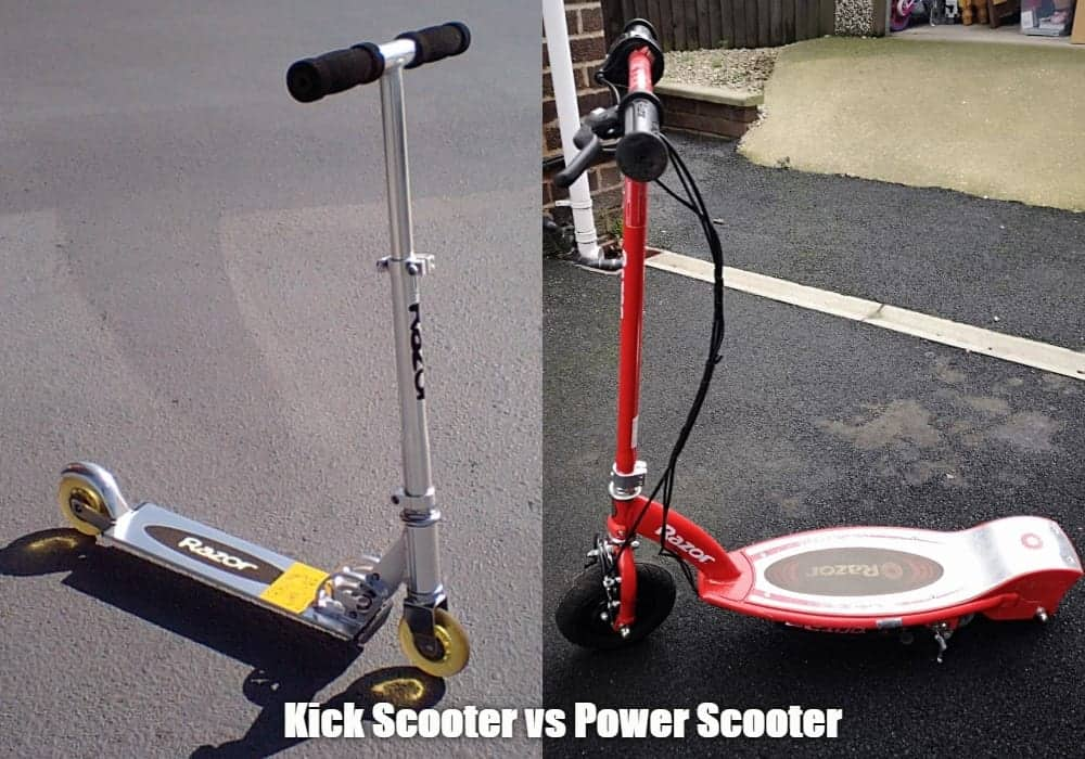 Kick Scooters vs. Power Scooters